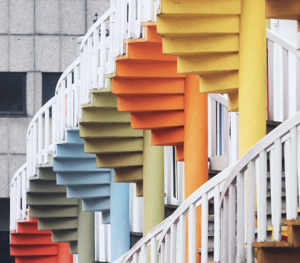 colorful stairs in Singapore
